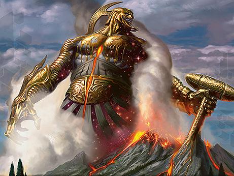 purphoros, god of the forge