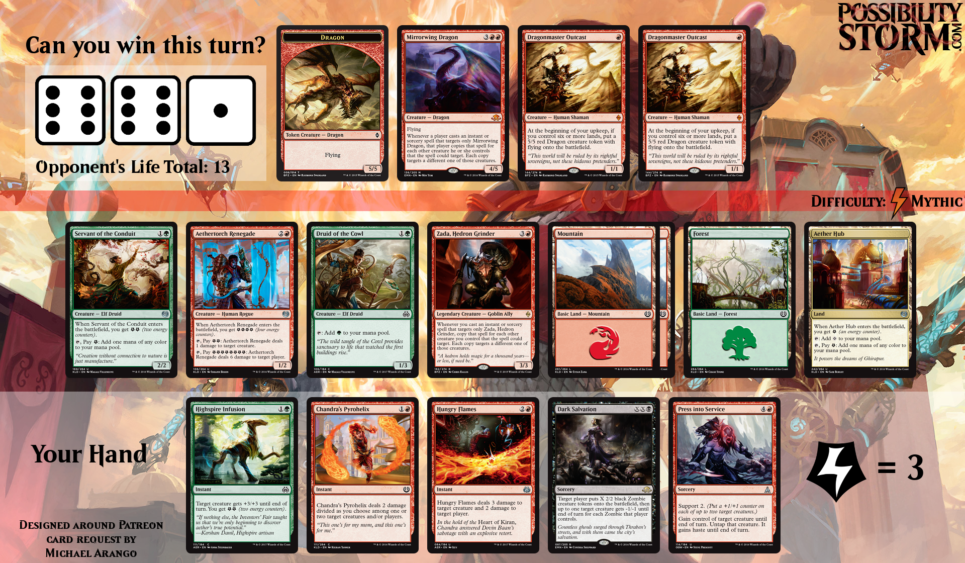 Possiblity Storm - Aether Revolt Puzzle #4
