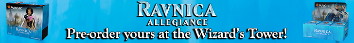 Pre-Order your Ravnica Allegiance #AtTheTower!